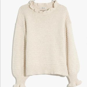 Madewell Ruffle Neck Pullover Sweater